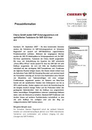 09_07_Cherry GmbH stattet SAP-Schulungszentrum mit spefizi–