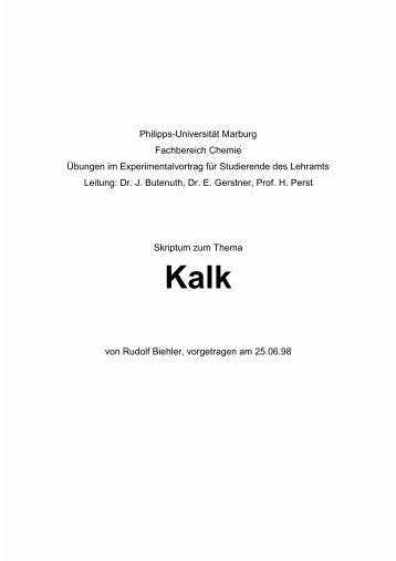 Philipps-Universität Marburg Fachbereich Chemie Übungen ... - ChidS