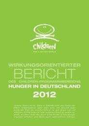 Wirkungsorientierten Bericht HUNGER IN DEUTSCHLAND 2012 ...