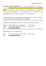 Dr. rer. nat. habil. Helmuth Tietz - Fachrichtung Chemie und ...