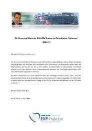 Ausgabe 08-2013 - Dr. Christian Ehler MdEP