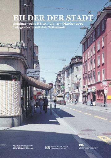 bilder der stadt - professur für architektur und städtebau — prof. kees ...