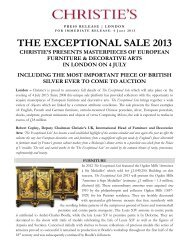 THE EXCEPTIONAL SALE 2013 - Christie's