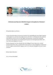 Ausgabe 01-2013 - Dr. Christian Ehler MdEP