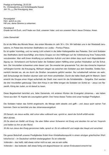 Vollenden und Sünde Predigt über Johannes 19, 16-30 (pdf-Format)