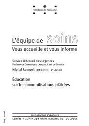 Éducation sur les immobilisations plâtrées - CHU Toulouse