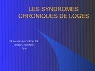 LES SYNDROMES CHRONIQUES DE LOGES