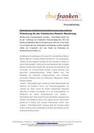 Prämierung für den Fränkischen Rotwein Wanderweg - Churfranken