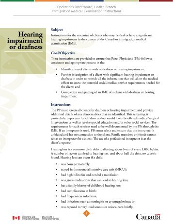 IMEI : Hearing Impairment or Deafness ( PDF , 296 KB )