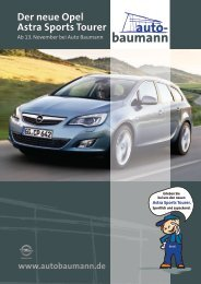 auto- baumann Der neue Opel Astra Sports Tourer