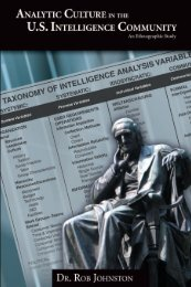 Analytic Culture in the U.S. Intelligence Community (PDF) - CIA
