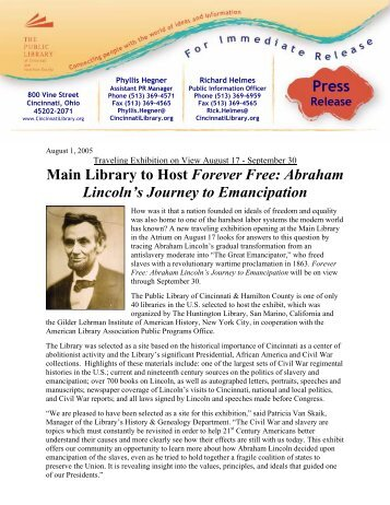 abraham lincolns journey to emancipation Lincoln in 1860 library of congress: pre-presidential political timeline at age 23, with no real qualifications and a very limited formal education, abraham lincoln ran for his first illinois political office.