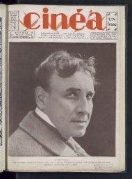 Cinéa n°37, 20/01/1922 - Ciné-ressources