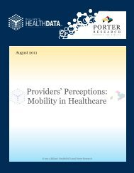 Providers' Perceptions: Mobility in Healthcare