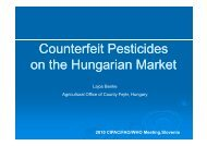 Counterfeit pesticides on the Hungarian market Lajos Benke ... - cipac