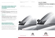 über Windschutzscheiben (PDF) - Citroën