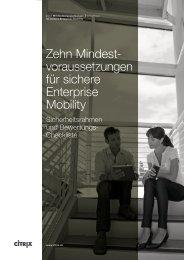 Zehn Mindestvoraussetzungen für sichere Enterprise Mobility - Citrix