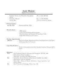 Curriculum Vitae - Canadian Institute for Theoretical Astrophysics ...