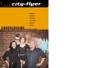 UNDERGROUND.....THE 1ST CHAPTER - City-Flyer