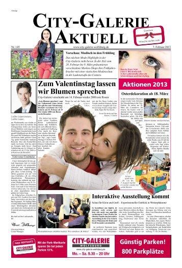 ZumValentinstaglassen wirBlumensprechen - City Galerie, Wolfsburg