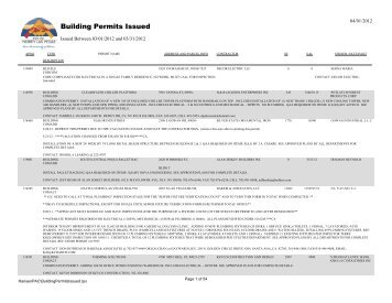 04/01/2012 Building Permits Issued - City of North Las Vegas, Nevada