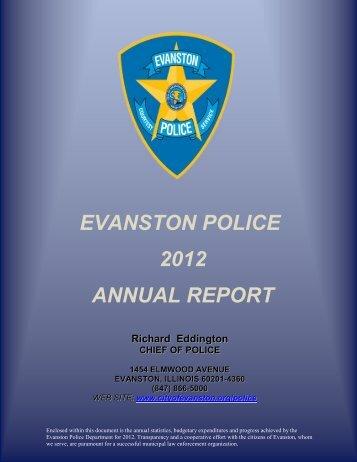 EVANSTON POLICE 2012 ANNUAL REPORT - City of Evanston
