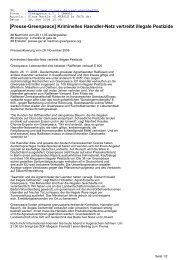 Kriminelles Haendler-Netz vertreibt illegale Pestizide - CL-Netz