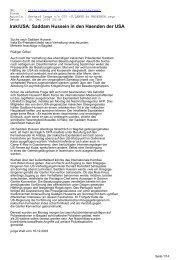 Irak/USA: Saddam Hussein in den Haenden der USA - CL-Netz
