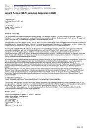 Urgent Action: USA: Irakkrieg-Gegnerin in Haft - CL-Netz