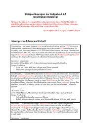 ECL - Musterlösung Aufgabe A2.1 - Information Retrieval