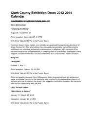 Clark County Exhibition Dates 2013-2014 Calendar
