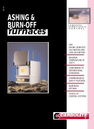 Ashing & Burn-Off Furnaces - Clarkson Laboratory and Supply