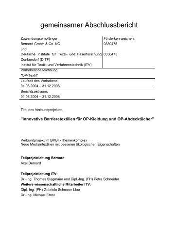 gemeinsamer Abschlussbericht - Cleaner Production Germany