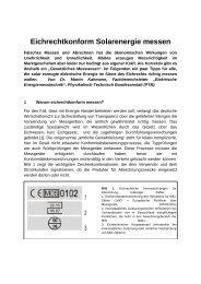 Eichrechtkonform Solarenergie messen - Clearingstelle EEG
