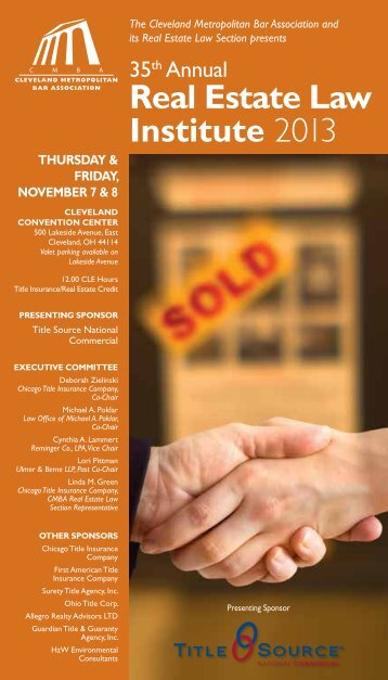 to download the brochure - Cleveland Metro Bar Association
