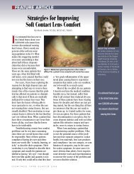Strategies for Improving Soft Contact Lens Comfort