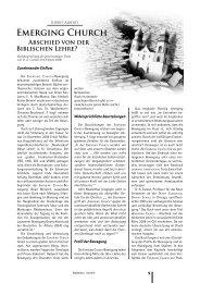 Emerging Church - Abschied von der biblischen Lehre?