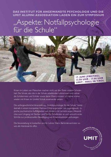 """""""Aspekte: Notfallpsychologie für die Schule"""""""