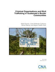 Criminal Organizations and Illicit Trafficking in Guatemala's ... - CNA