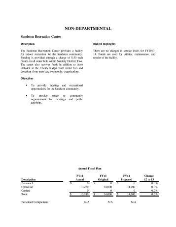 NON-DEPARTMENTAL - Henrico County