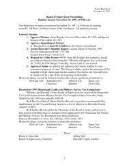 Board of Supervisors Proceedings Regular ... - Marshall County