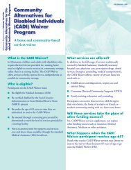 (CADI) Waiver Program - Sibley County