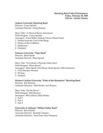 Marching Band Videos - Coastal Carolina University