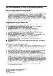 Diskussionsgrundlage: OECD-Leitsätze für ... - Der Runde Tisch