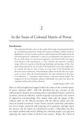In the Snare of Colonial Matrix of Power - codesria