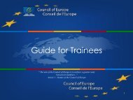 Traineeship guide - Council of Europe