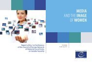 MEDIA AND THEIMAGE OFWOMEN - Council of Europe