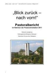 Pastoralbericht im Rahmen der Pastoralvisitation 2011