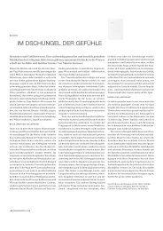 IM DSCHUNGEL DER GEFÜHLE - Collegium Helveticum