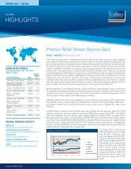 Colliers International | Highlights | Global | Retail | Spring 2011